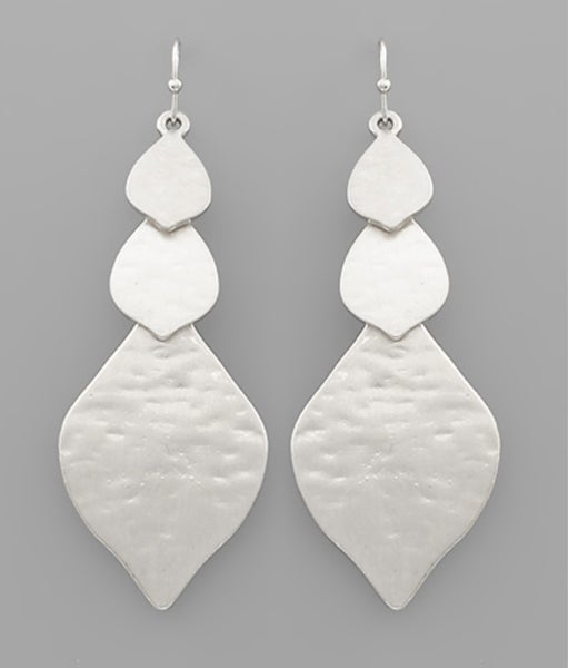 Marquise Drop Silver Earrings