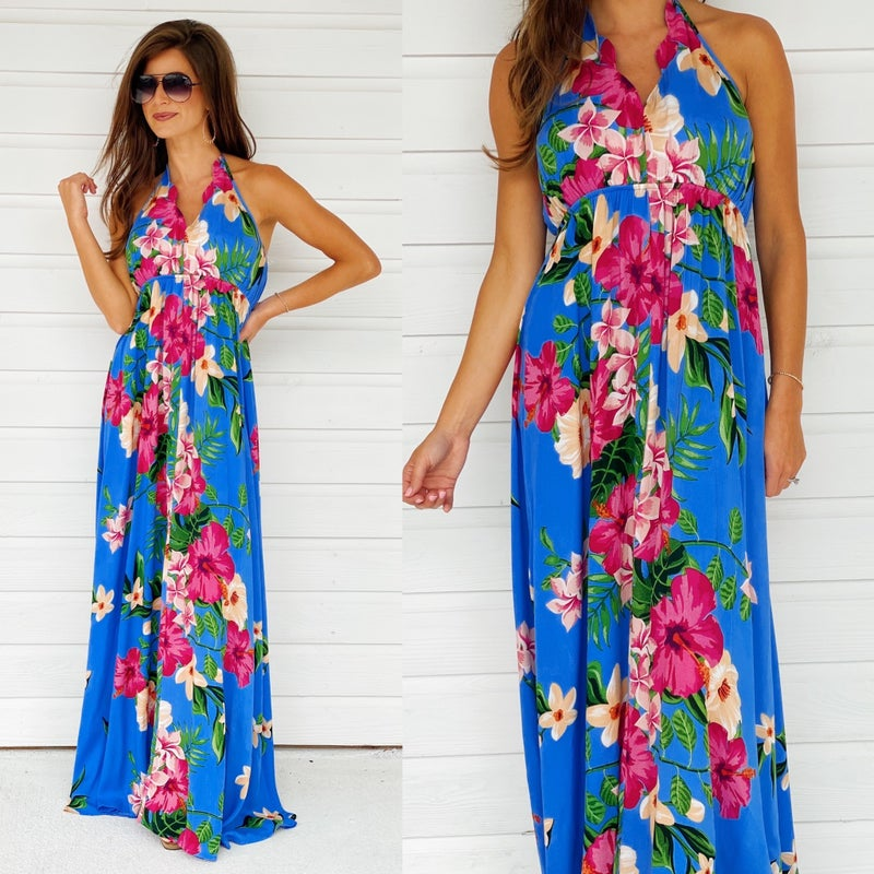 Best Of The Blues Floral Dress