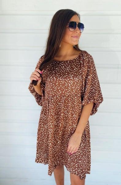 Bronzed Diva Spotted Dress
