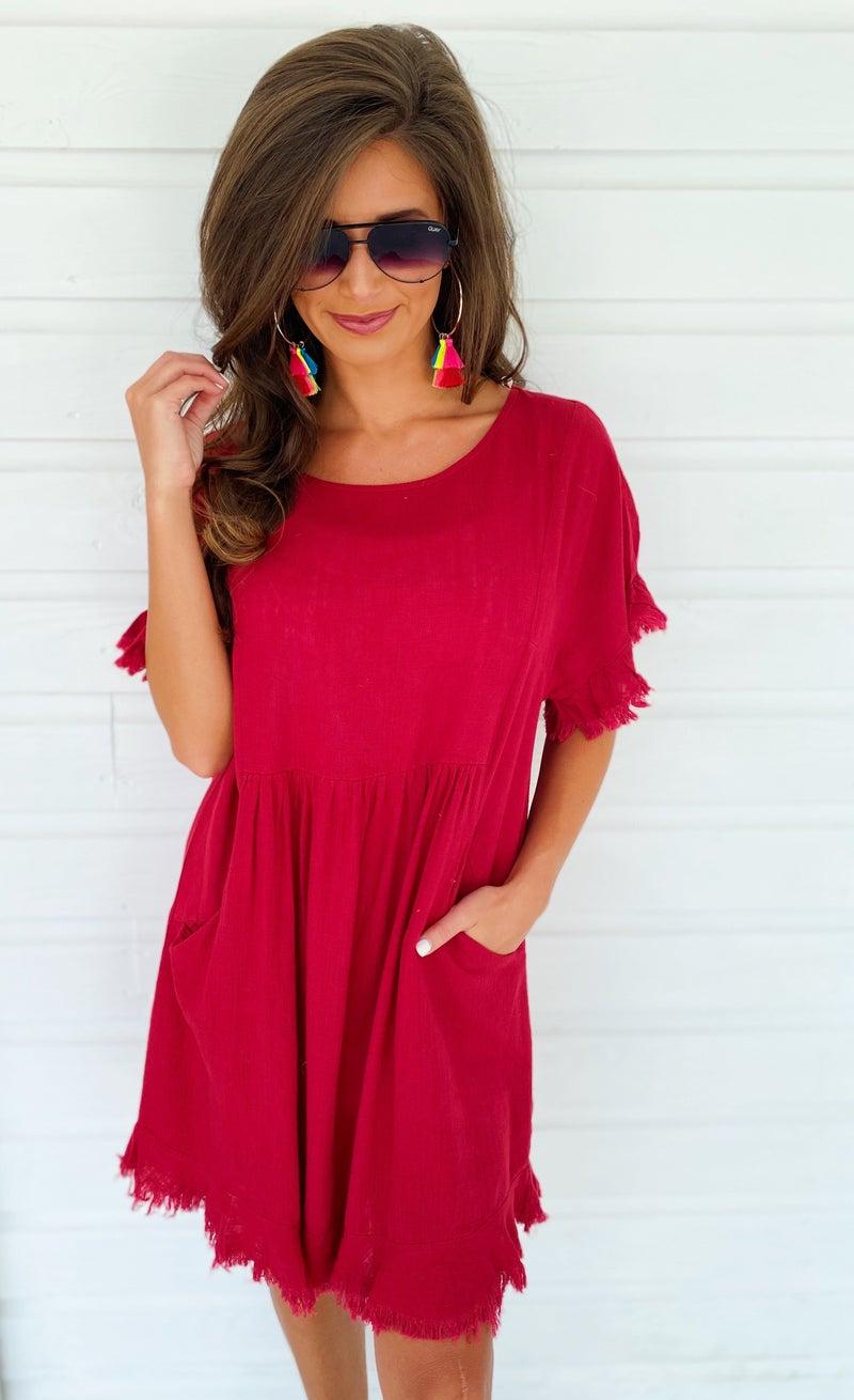 Jester Red Pocket Dress