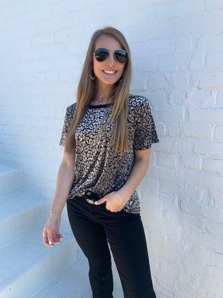 Valerie Velvet Leopard Top