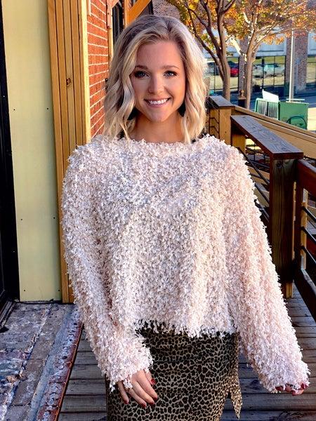 Cream Confetti Sweater