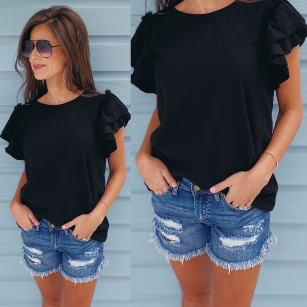 Out For Fun Top- Black