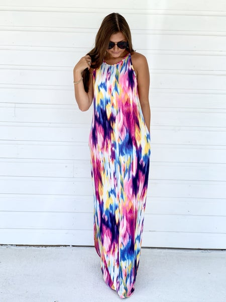Anna Colorful Maxi Dress
