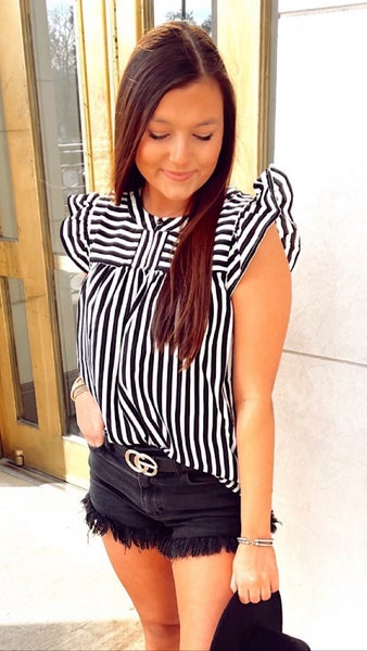Whitney Striped Top