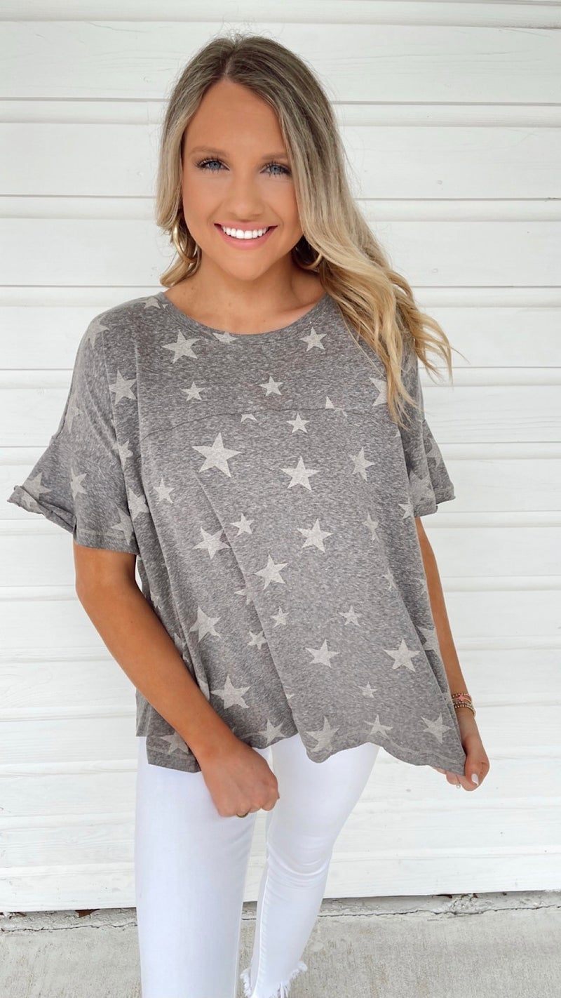 Stars Aligned Charcoal Top
