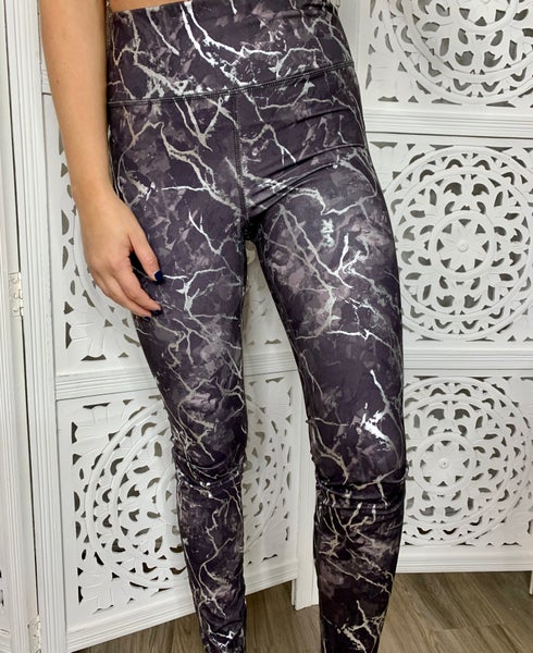 Metallic Marble Leggings