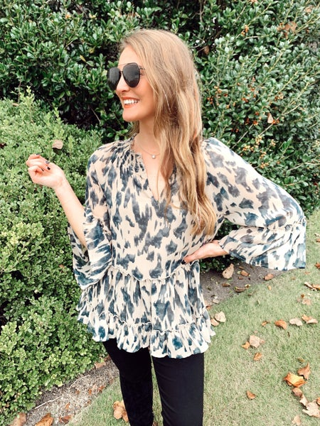 Totally Taupe Leopard Top