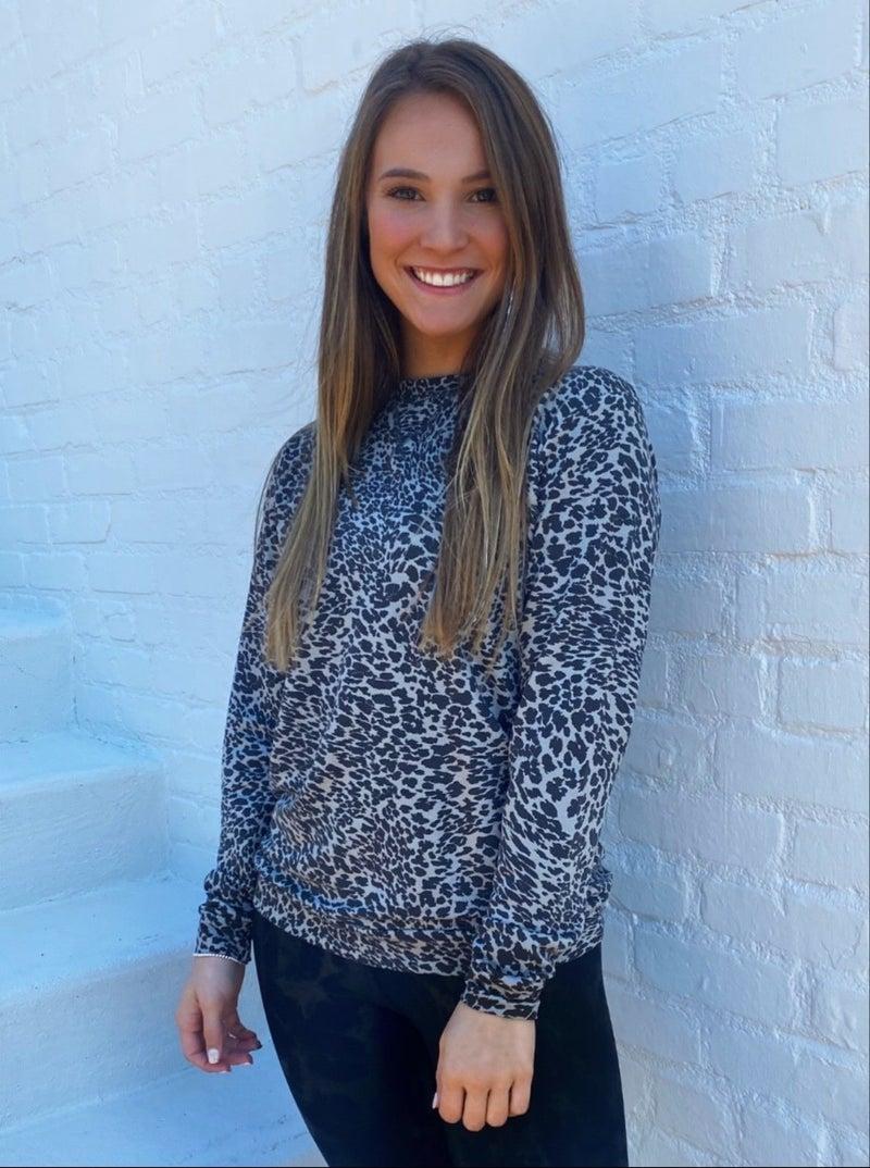Liza Leopard Print Top