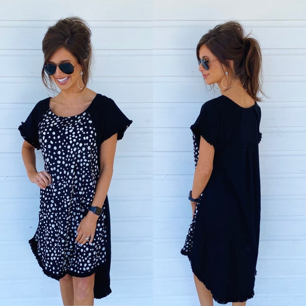 Becca Black Spotted Dress