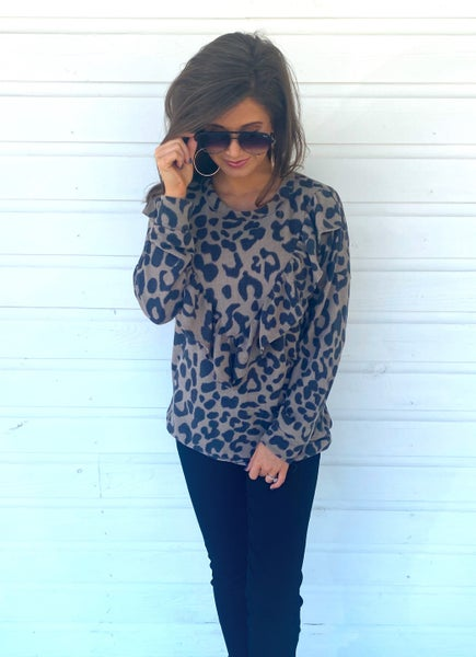 Candice Leopard Top *Final Sale*