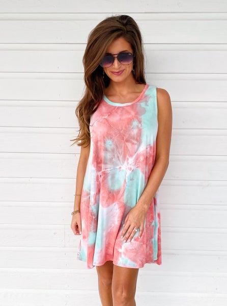 Life Is Good Tie Dye Dress