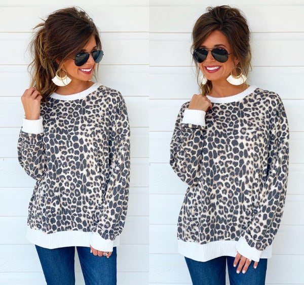 Allie Cat Waffle Knit Top