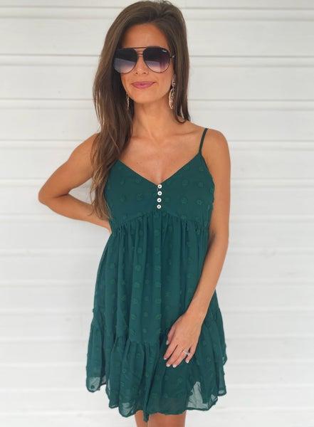 Naomi Textured Dress- Jade