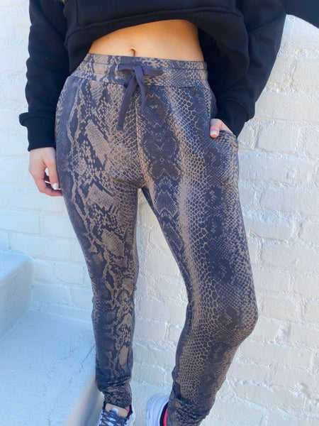 Brooklyn Brown and Snake Joggers
