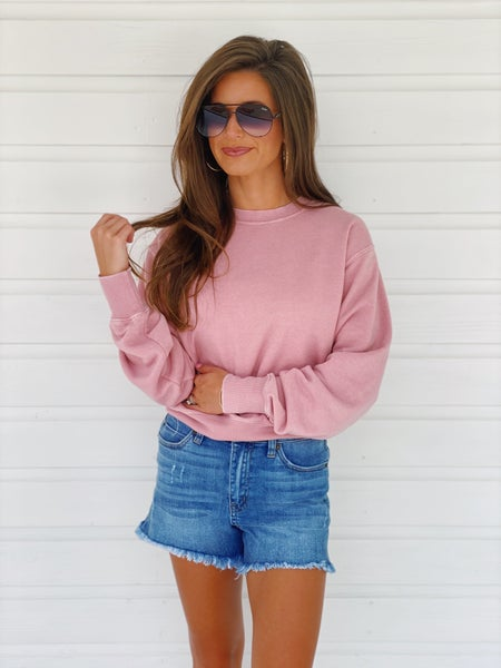 Mauve Pink Crop Top *Final Sale*