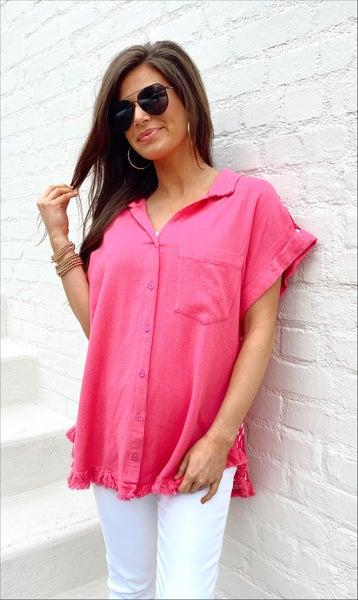 Hot Pink Spotted Top