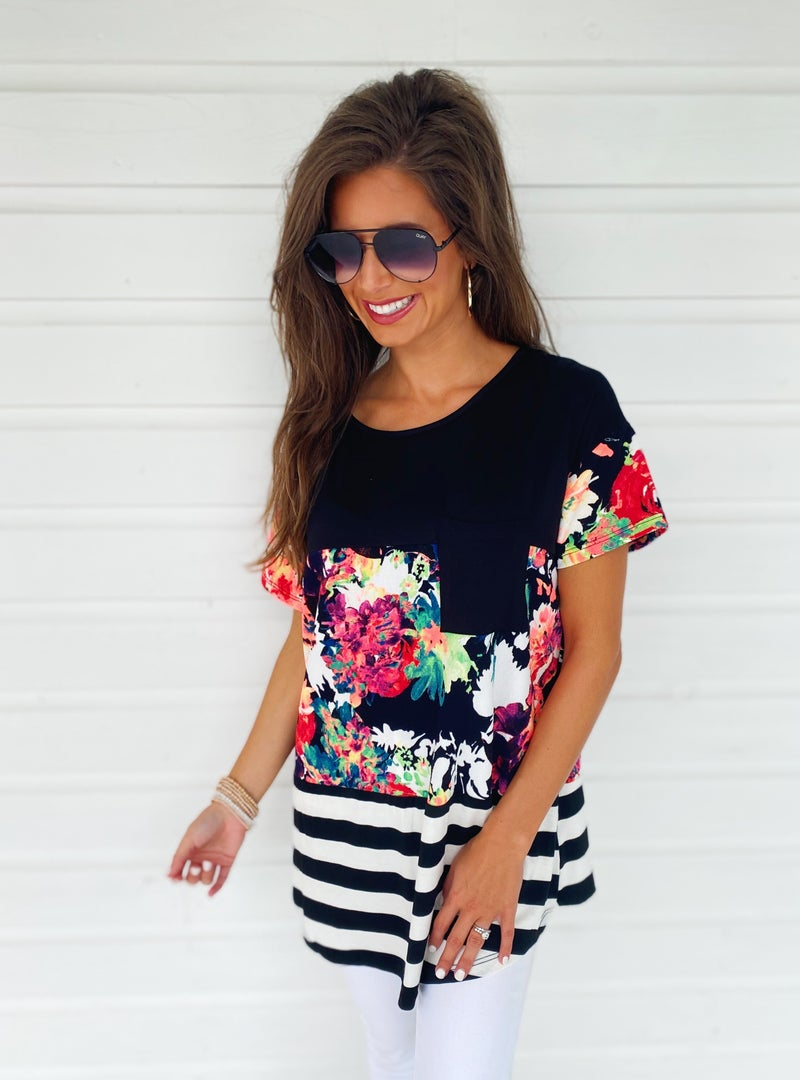Busy Bee Floral Top