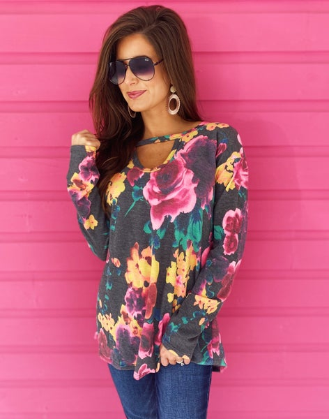 End of Summer Blooms Printed Top