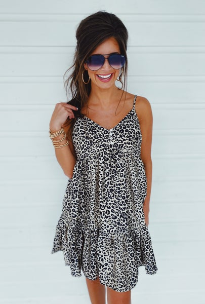 Emma Leopard Dress