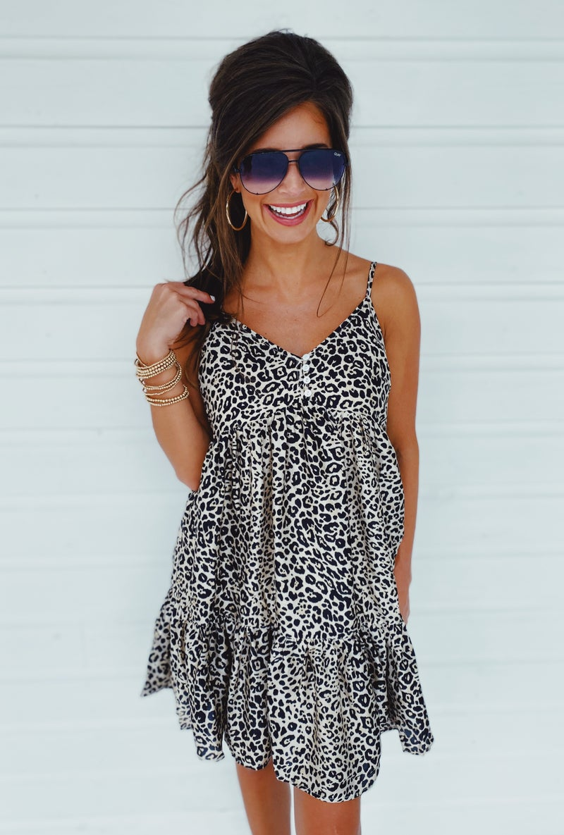 Emma Leopard Dress