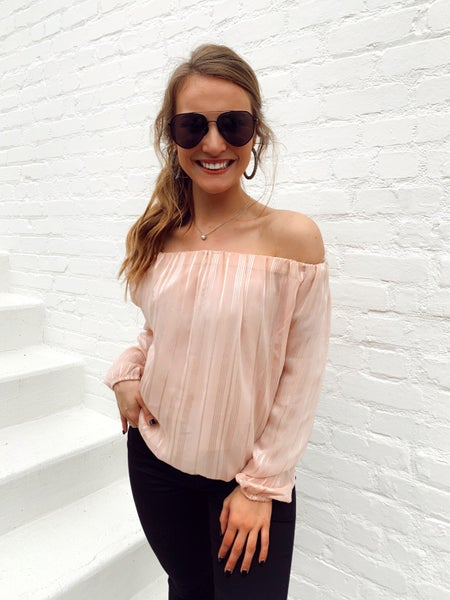 Brielle Blush and Shimmer Top