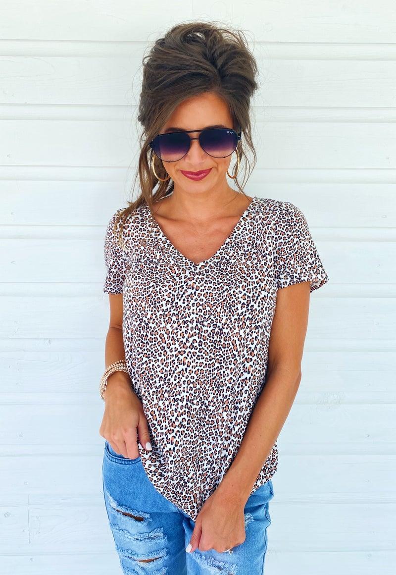 Cheetah V-Neck Top
