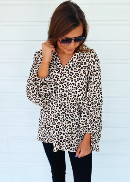 All About It Animal Print Top