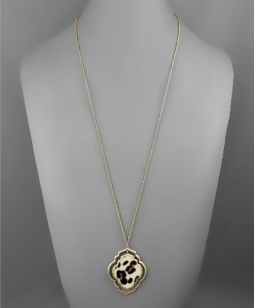 Love Some Animal Print Gold Necklace