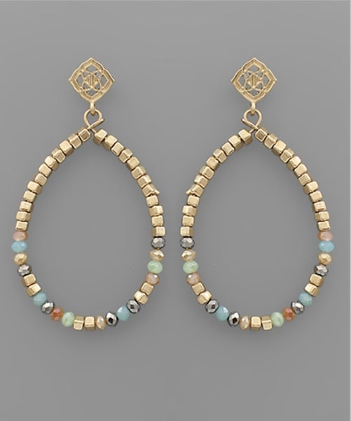Beaded Wonder Teardrop Earrings- Multi