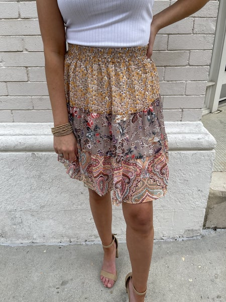 Mixed Emotions Tiered Skirt