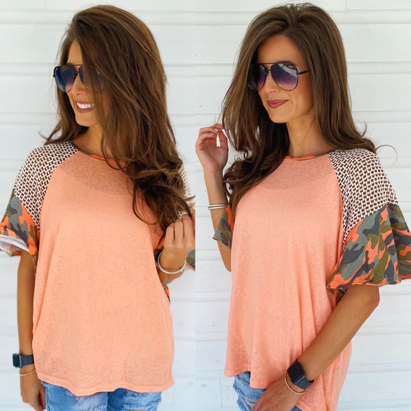 Penelope Peach Top