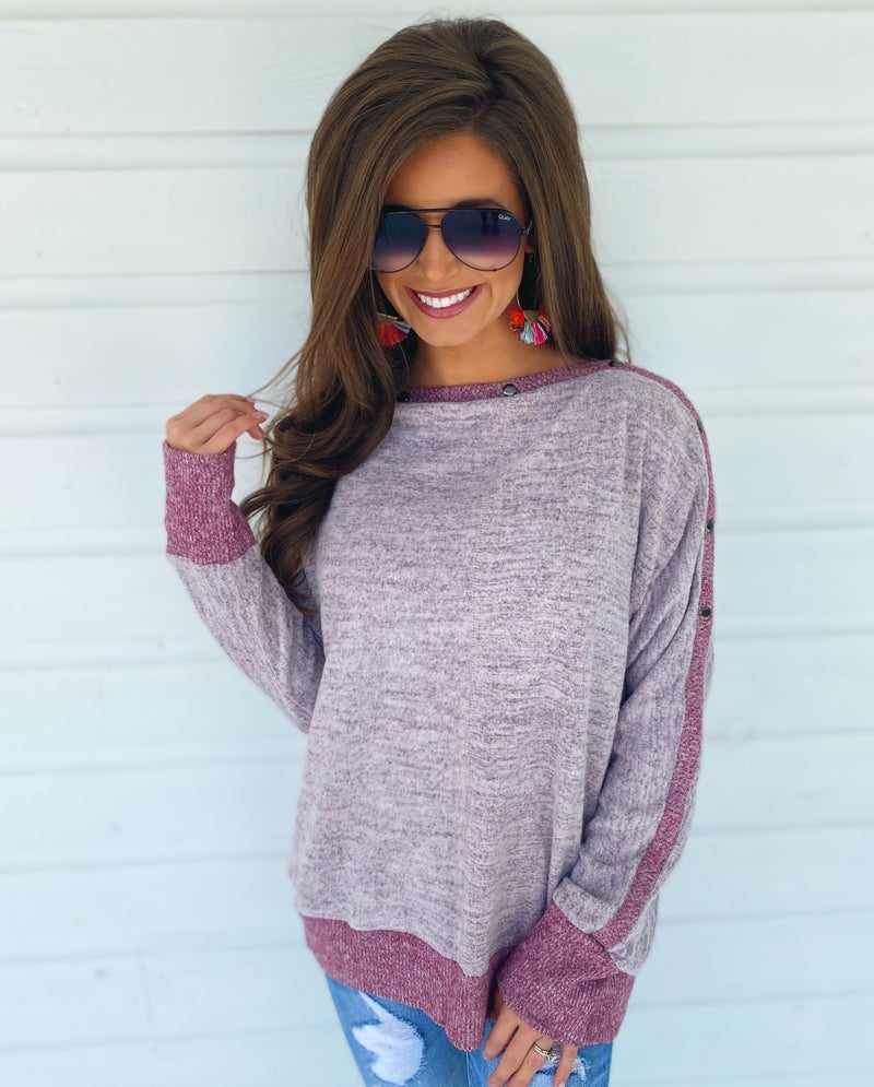 Lilly Light Purple Brushed Sweater