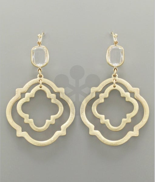 Golden Ticket Quatrefoil Earrings