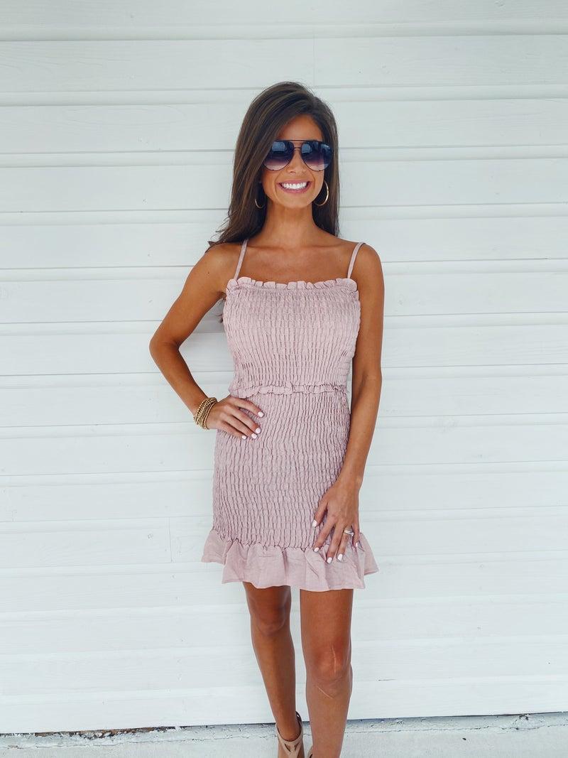 Baby Pink Smocked Dress