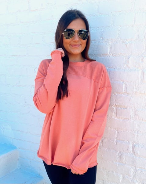 Coral Fun and Flirty Top