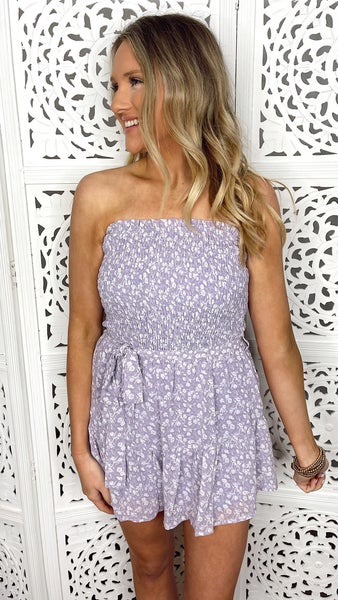 Loving Lilac Smocked Romper