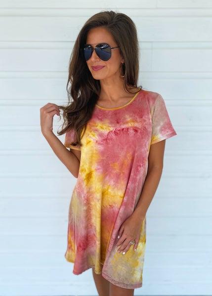 Mango Twist Tie Dye Dress
