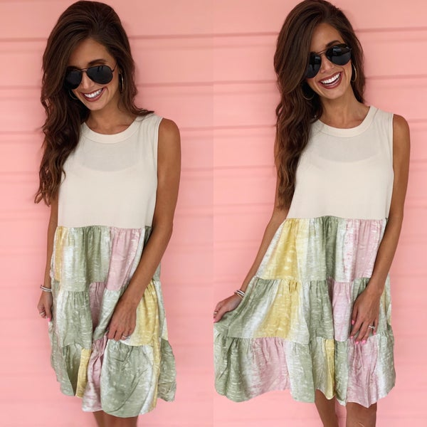 Sunny Summer Days Tie Dye Dress