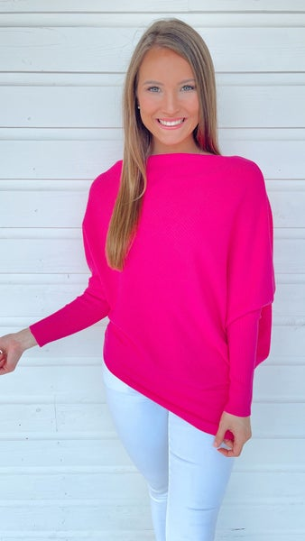 Sunset Chaser Hot Pink Sweater