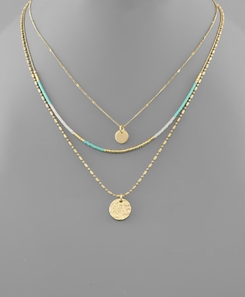 Love You Turquoise Layer Necklace