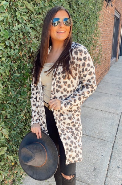 Sweet and Subtle Leopard Cardigan