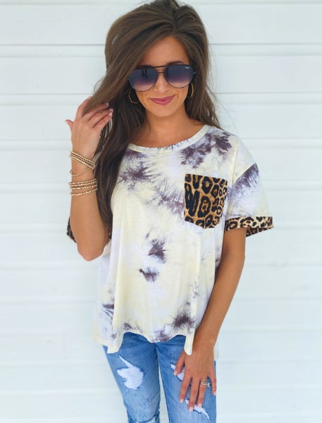 All You Want Tie Dye Top- Yellow