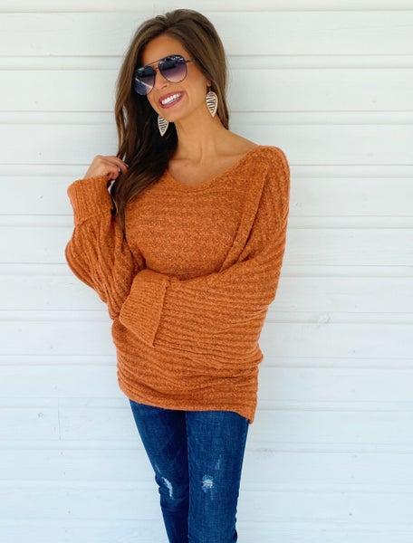 Oakley Orange Wide Neck Sweater