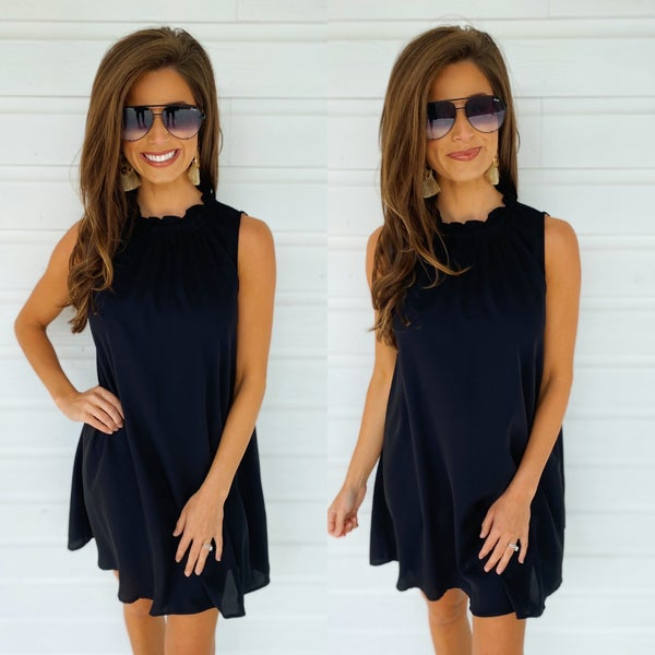 Hello Summer Swing Dress- Black