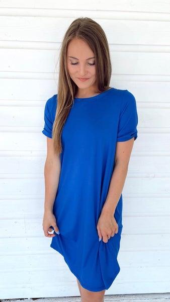 Feeling Royal in Knit Short Sleeve Dress