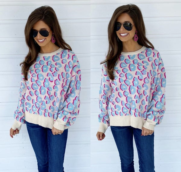 Forever In Love Leopard Print Sweater
