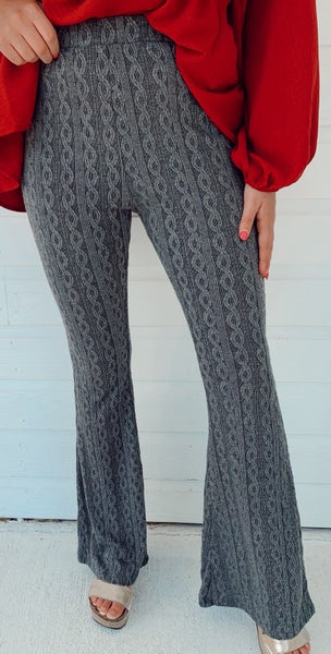 Charlie Charcoal Print Flares