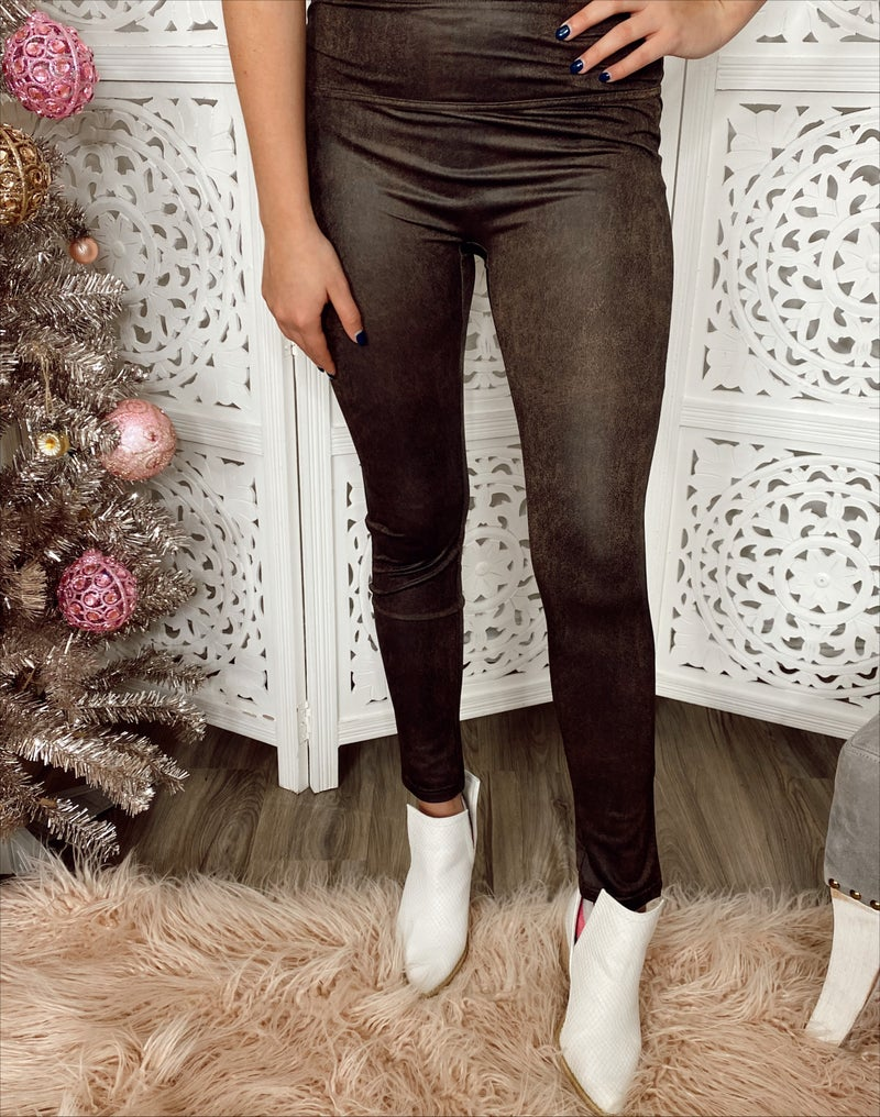 Better Without You Brown Leggings