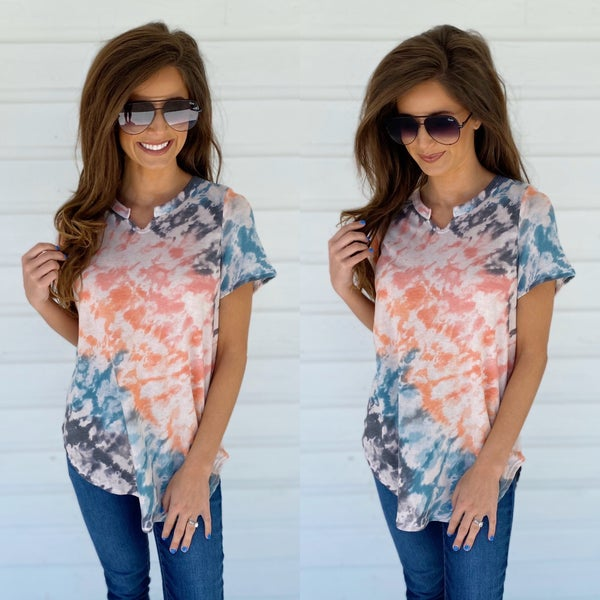 Pretty Printed V-Neck Top